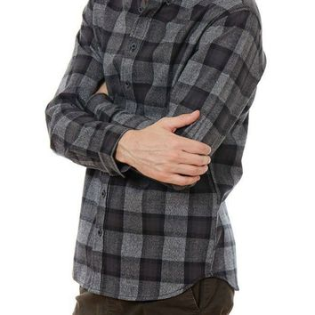 Jalen Plaid Flannel in Grey