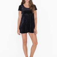 Stretch Velvet Babydoll Dress | American Apparel