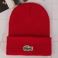Lacoste Fashion Edgy Winter Beanies Knit Hat Cap-5
