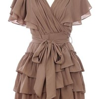 Cappuccino Cascade Dress | Women's Dresses | RicketyRack.com