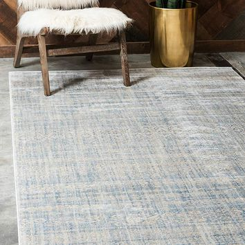 0152 Silver Mist Moroccan Tribal Design Distressed Contemporary Area Rugs