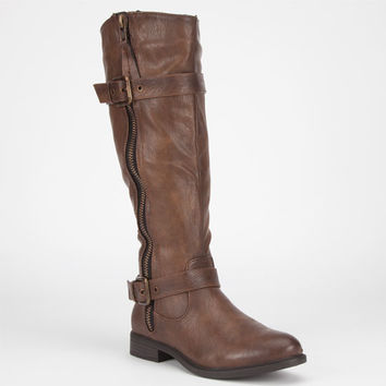 De Blossom Pita Womens Boots Brown  In Sizes