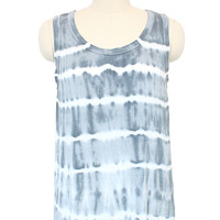 Sleeveless Tie Dye Tank Top