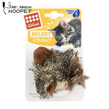 Hoopet Pet Cat Bird Toy Interactive Training Feather Plastic Toy Claw Training Product For Cats Chew Toy