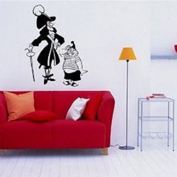 Peter Pan Capitan Hook Wall art Sticker Decal 075