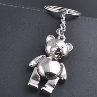 Teddy bear key chain  Cute gift Stainless Steel  keychain keyring key holder keyfob  key buckle pocket tools