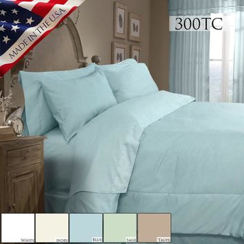 SUPREME SATEEN 300 SOLID COMFORTER SET IN DIFFERENT COLOS AND SIZES
