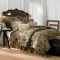Chaps Home Brittany 3-pc. Duvet Cover Set (Green)
