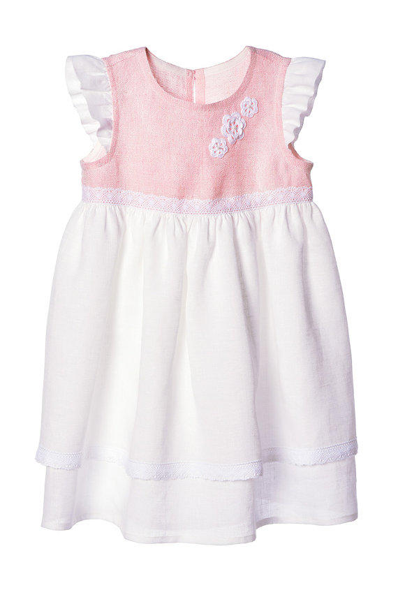 Girls Linen Dress Flower Girls Linen From