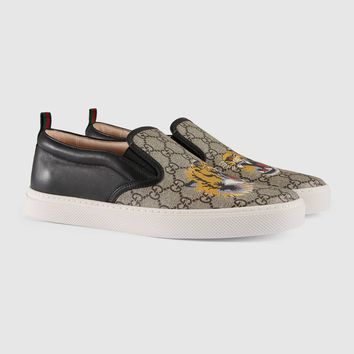 Gucci GG Supreme tiger slip-on sneaker