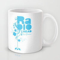 "Radiohead ""Last flowers"" Song / Blue version Mug by LilaVert"
