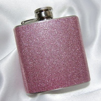 3 oz Womens Glitter Hip Flask Sparkling Pink w/ by YouNiqueGarters