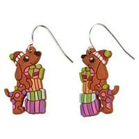 Holiday Puppy Dog Drop Earrings | Girls Shoes & Accessories New Arrivals | Shop Justice
