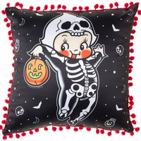 SOURPUSS KEWPIE SKELETON PILLOW