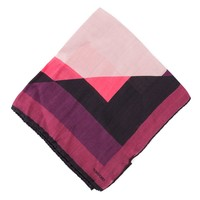 Tom Ford Men's Abstract Pink Block Silk Pocket Square