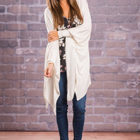 Cozy Experience Cardigan, Ivory
