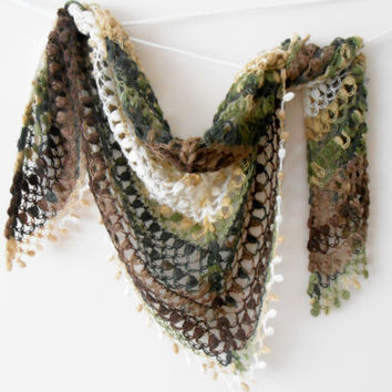 Handmade angora shawls, earth colors shawl, hand knitted shawl, knitted triangle shawl,Christmas gift, angora shawls,colored triangle shawls