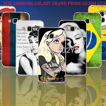 For Samsung Galaxy Grand Prime G530H G5308W Case Russia Brazil Despicable Me Marilyn Monroe Audrey Hepburn Hard Cell Phone Case