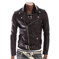 Men's Korejski Biker Leather Jacket Dva | Style and Decor