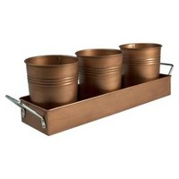 Artland Oasis Antique Copper Picnic Caddy and Planter - Gold : Target