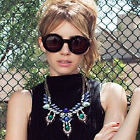 Fashion Crystal Colorful Necklace Collarbone Chain a13491
