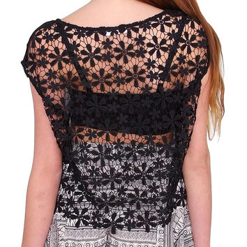Peace & Love Top - Black Lace