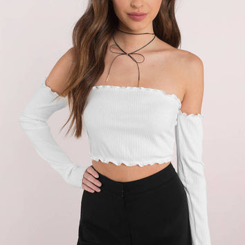 Reverse Feeling Lucky Crop Top