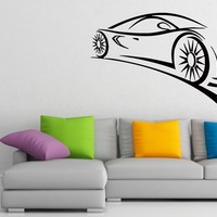 Wall Decals Formula 1 Racing Sport Car Le Mans Decal Vinyl Sticker Home Decor Bedroom Interior Window Decals Living Room Art Murals Chu1414