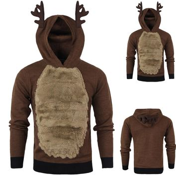 Sunfree Christmas Main Product Men Elk Cosplay Sweaters Cool Boy Worth Having Hot Selling Fashion Style Christmas Sweater 3L60