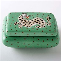 Waylande Gregory Leopard Green Curved Box