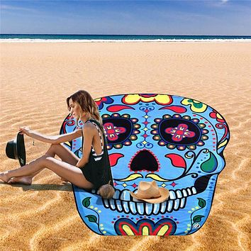 Skull pattern Wall Hanging Tapestry Wall Hanging Bedspread Beach Towel Mat Blanket Table MAR25