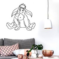 Wall Stickers Vinyl Decal Winnie The Pooh Cartoon Donkey Child Room (ig1049)