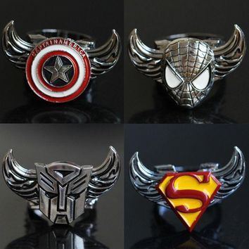 DCCKIX3 Featured Store Captain America, superman iron man new rotating ring ring = 1946134596
