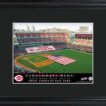 Personalized MLB Stadium Print - Reds