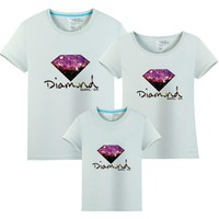 2107 Family Matching Outfits Cotton T-shirt For Mom Dad and Baby