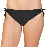 Black Side Tie Swim Bottom - Black