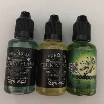 DCK4S2 Electronic Vape E Pen Cigarettes juice 3 bottle