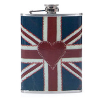 Union Jack Hip Flask - Unique Vintage - Prom dresses, retro dresses, retro swimsuits.