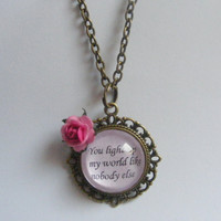 One Direction 1D Song Quote Necklace Pendant - One Direction Jewelry