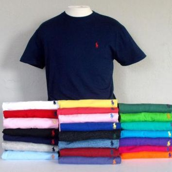 spbest Men's Polo Ralph Lauren Short Sleeve Crew Neck T-Shirt  S-2XL