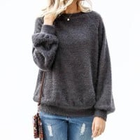 Charcoal Fuzzy Sweater