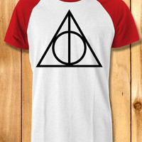 deathly hallows symbol Baseball Tees-1y4 Unisex Raglan Tees For Man And Woman / T-Shirts / Custom T-Shirts / Tee / T-Shirt