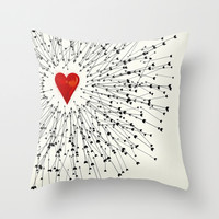 Heart&Arrows Throw Pillow by SEVENTRAPS