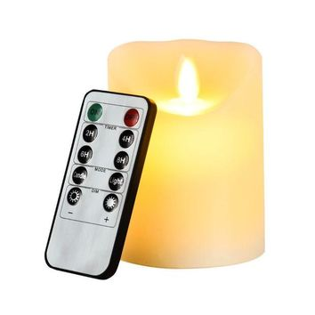 VONC1Y LED electronic flameless candle lights+10 keys remote control/large DIA simulation candle lamp pary wedding birthday festival