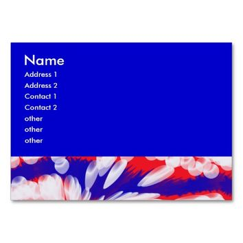 red white and blue, large business cards (Pack of 100)