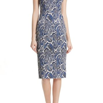 DVF Mixed Paisley Sheath Dress | Nordstrom