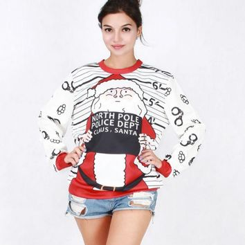 DCCKUNT The New Womens Christmas Santa Claus Pullovers Sweaters