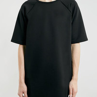 BLACK RAGLAN LONGER LENGTH T-SHIRT - Men's Tees & Tanks - Clothing