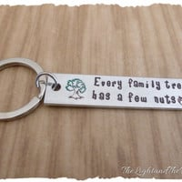 Personalized Hand Stamped gift for Family - Gift for her Gift for him - Gift for family - Every family tree has nuts funny gift  family tree