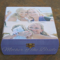 Personalized Wedding Keepsake Box, Custom Mother of the Bride Gift, Father of the Bride Photo Memory Box, Parent Thank You Gift